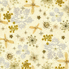 Holiday Snowflakes silver and gold
