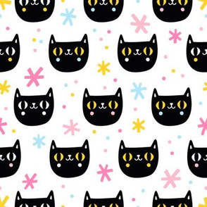 Fun black cats
