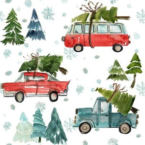 """8"""" Santa's Other Ride // Woodland Trees"""