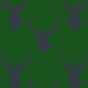 """4"""" Blue Deer Green Back"""