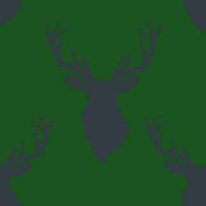 """8"""" Blue Deer Green Back"""