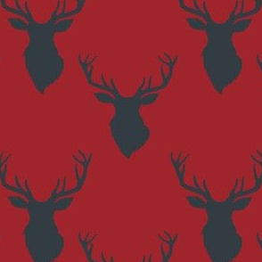 """4"""" Blue Deer Red Back"""