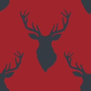 """8"""" Blue Deer Red Back"""