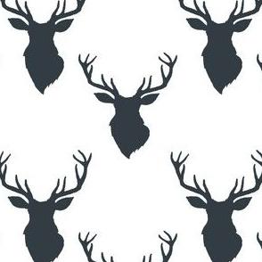 """4"""" Blue Deer White Back"""