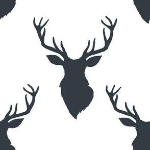 """8"""" Blue Deer White Back"""