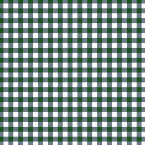 "4"" Green and Blue Plaid"