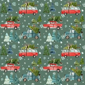 "4"" Santa's Other Ride // Woodland Trees // Corduroy Green"