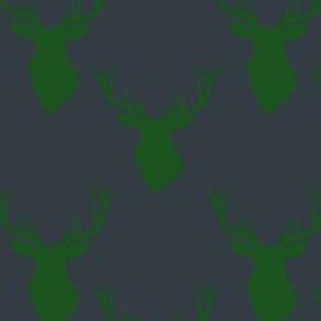 """4"""" Green Deer Blue Back"""