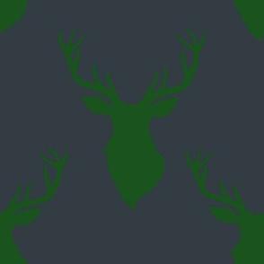 """8"""" Green Deer Blue Back"""