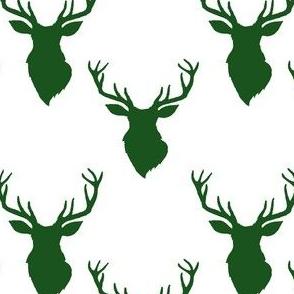 """4"""" Green Deer White Back"""