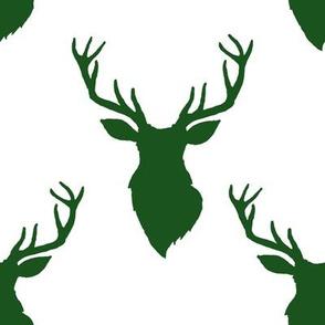 """8"""" Green Deer White Back"""