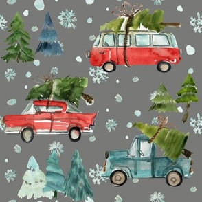 "8"" Santa's Other Ride // Woodland Trees // Friar Gray"