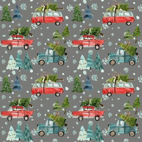 "4"" Santa's Other Ride // Woodland Trees // Friar Gray"