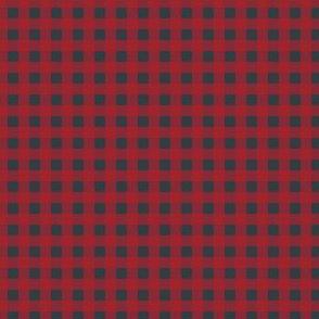 """4"""" Red Blue Plaid"""