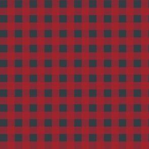 """8"""" Red Blue Plaid"""