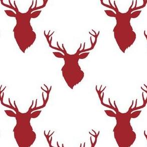 """4"""" Red Deer White Back"""