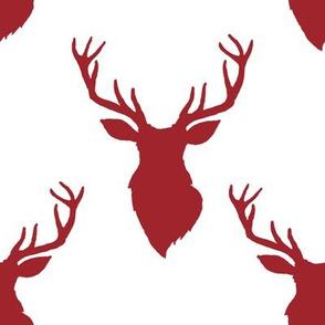 """8"""" Red Deer White Back"""