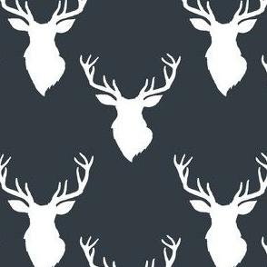 """4"""" White Deer Blue Back"""