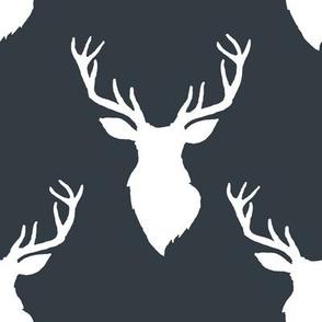 """8"""" White Deer Blue Back"""