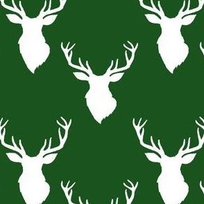 """4"""" White Deer Green Back"""
