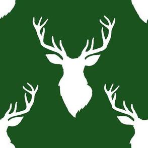 """8"""" White Deer Green Back"""