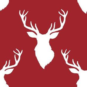 """8"""" White Deer Red Back"""