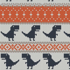 Dino Fair Isle - classic - T-rex winter knit