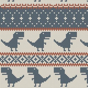 Dino Fair Isle - OG - T-rex winter knit
