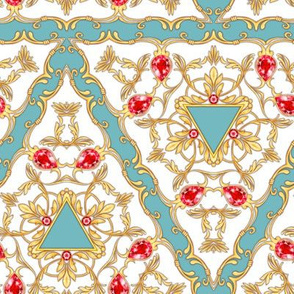 Luxury pattern with ruby