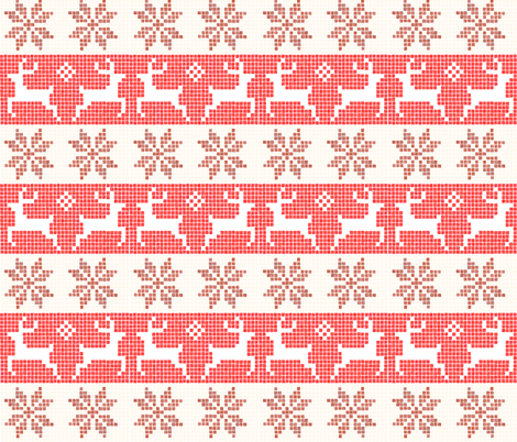 Cosy Watercolour Fair Isle fabric by thewellingtonboot on Spoonflower - custom fabric