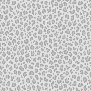 ★ LIGHT GRAY LEOPARD ★ Leopard Print in Neutral Gray - Tiny Scale / Collection : Leopard spots – Punk Rock Animal Print