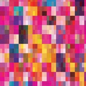 Pixel Quilt Pink