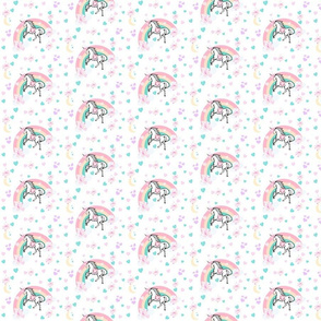 magical unicorn - pink floral princess  - SMALL 35