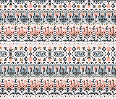 Rustic Garden Fair Isle fabric by a_tale_of_fox on Spoonflower - custom fabric