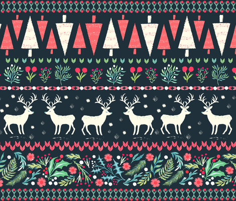 Fair Isle Christmas fabric by jill_o_connor on Spoonflower - custom fabric