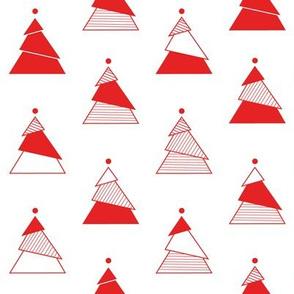 Minimal Christmas Tree white