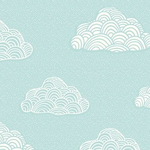 Cumulus Cloud - Soft Nursery Aqua - MED