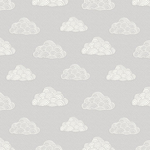 Cumulus Cloud - Soft Nursery Gray - MED