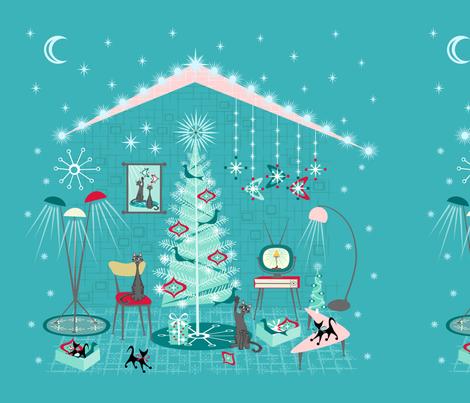 Retro Holiday Decorating fabric by studioxtine on Spoonflower - custom fabric