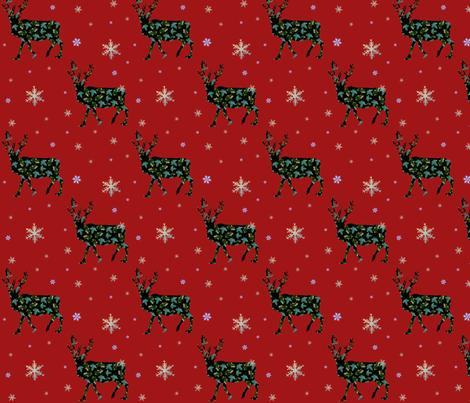 Yule Reindeer fabric by redthanet on Spoonflower - custom fabric