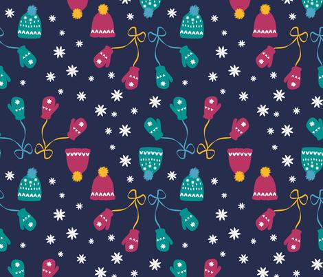 Snowball fights fabric by handypanda on Spoonflower - custom fabric
