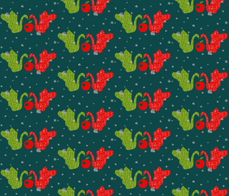 Swans fabric by redthanet on Spoonflower - custom fabric