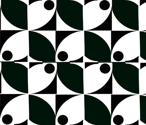 BLACK AND WHITE MOD -011  fabric by soobloo on Spoonflower - custom fabric