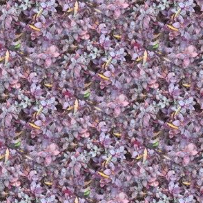 Purple Leaves | Seamless Photo Floral Print