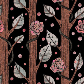 Floral pink forest