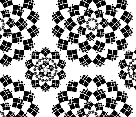 Black and White Mandala fabric by aurora_quilling on Spoonflower - custom fabric