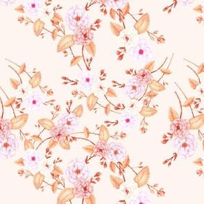Briar Roses Peach Pink Gold