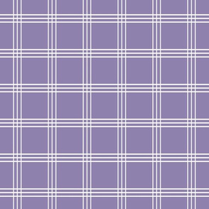 Pretty Plaid 2in: Violet Purple Plaid