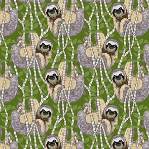 sloth cloth light green