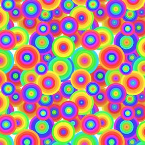 Groovy Neon Rainbow Circles